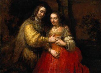 """The Jewish Bride,"" Rembrandt. 1666. (Photo: Wikiart)"